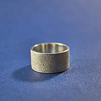 Матовое кольцо из серебра