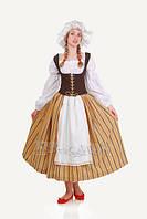 Скандинавский женский национальный карнавальный костюм