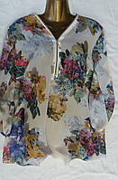 """Женская блузка """"Шифон"""" большого размера"""