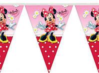 Флажки Минни Маус  на День рождения в стиле Минни Маус