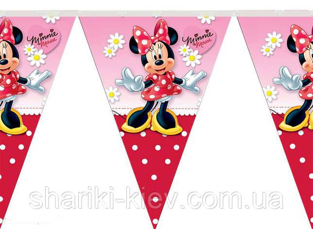 Флажки Минни Маус  на День рождения в стиле Минни Маус , фото 2
