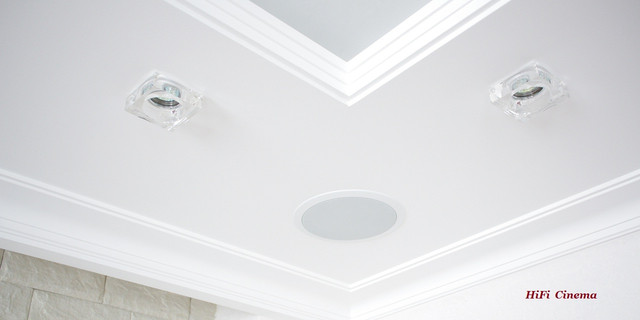 Speaker Install in Ceiling HiFi Cinema