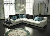 Диван угловой дизайнерский под заказ Элегия-34 (Мебель-Плюс TM)