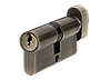 Цилиндр MVM P6E30/30T-ключ/тумблер AB-старая бронза