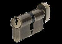 Цилиндр MVM P6E30/30T-ключ/тумблер AB-старая бронза, фото 1
