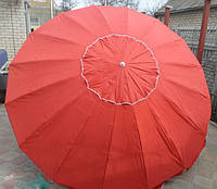 Зонт круглый с клапаном 3 м для торговли, отдыха на природе (16 пласт. спиц, цвета в асс.) DJV /72