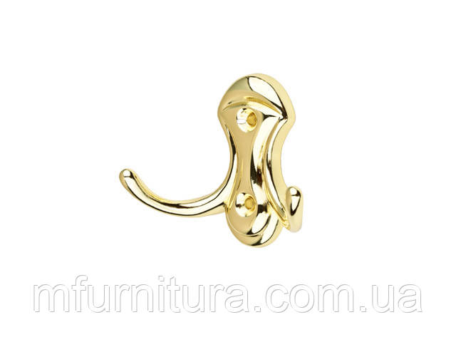 Гачок для одягу WР 3903 / золото / ДС-Фурнітура