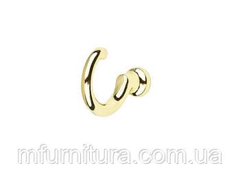 Гачок для одягу WK 1203 ST / золото / ДС-Фурнітура