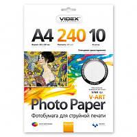 Фотобумага Videx AHWA4 240/10, глянец, фактура ткань
