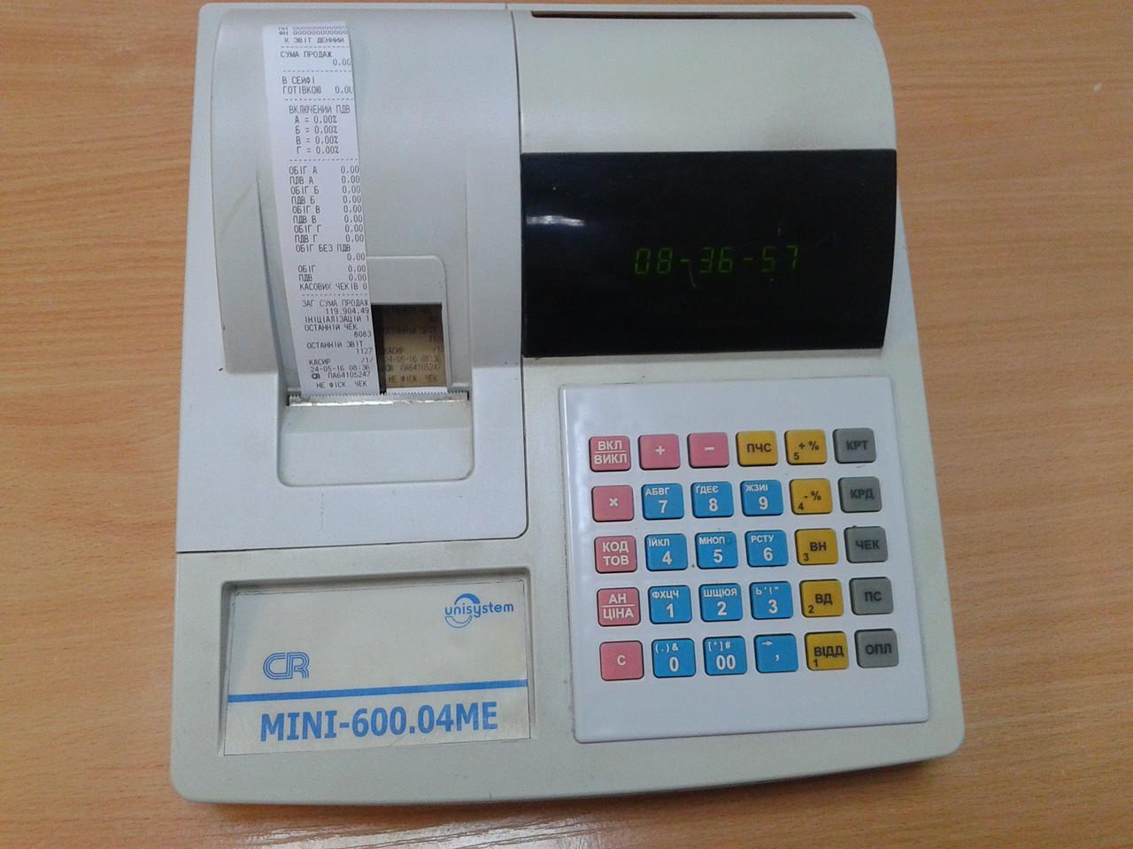 Кассовый аппарат MINI 600.04ME (б/у, нефискальный)