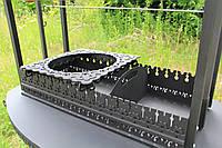 """Мангал """"Самарканд"""" комплектация-2А с ручным вертелом и крышкой-барбекю (длина 60см)"""