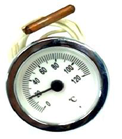 Термометр круглый SVT 52 P 0-120° хром LT144 с капиляром 1м
