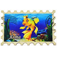 """Магнит - марка №3 """"Золотая рыбка"""" Ялта"""