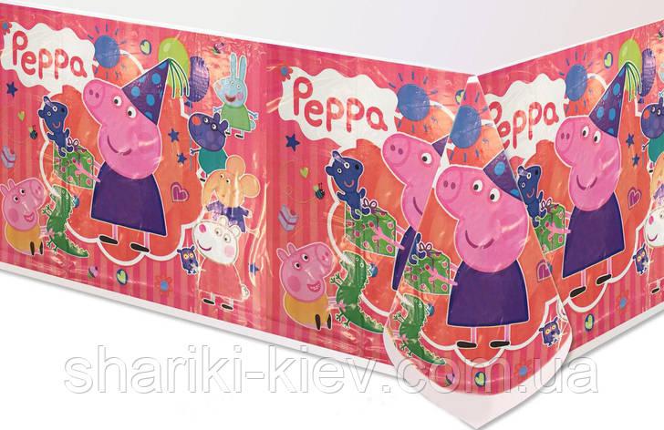 Скатерть Свинка Пеппа на День рождения в стиле Свинка Пеппа, фото 2