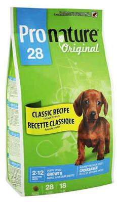 Корм для щенков малых и средних пород Pronature Original Small & Medium Puppy