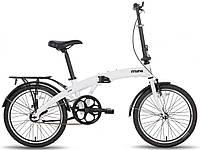 """Городской складной велосипед PRIDE MINI 1sp белый глянцевый, 20"""" (BB)"""