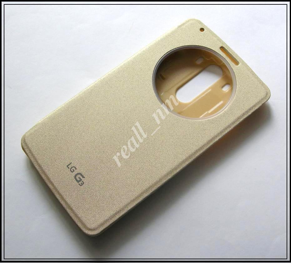Золотистый чехол Quick Circle case для смартфона LG G3 D855 D850