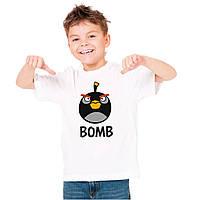 "Детская футболка ""Angry Birds Bomb (злые птицы бомба)"""