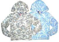 Детская кофта для девочки на молнии с капюшоном