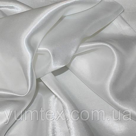 Атлас с блеском, цвет белый