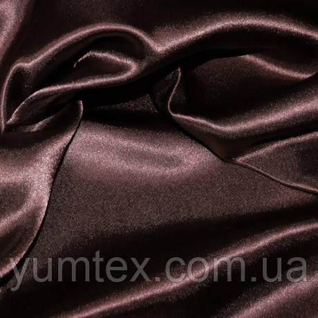Атлас с блеском, цвет темно-коричневый