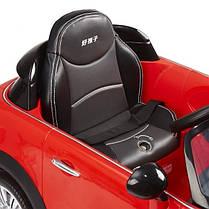 Детский электромобиль Geoby Mini Cooper S W456EQ красный, чехол эко-кожа, пульт дистанционного управления, фото 2