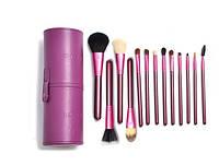 Набор кистей для макияжа в фиолетовом тубусе IS MINE 13