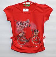 Футболка для девочки 1-12 лет ALMI Jeans красная