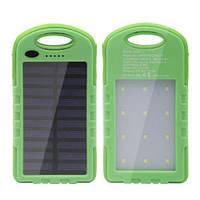 Портативное зарядное устройство Power Bank на солнечной батарее (8000 mAh)