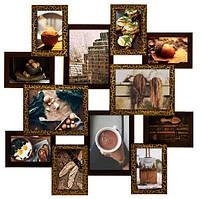 Мультирамка Путешествие на 12 фото Шоколад