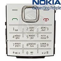 Клавиатура для Nokia X2-00, оригинал (серебристая)
