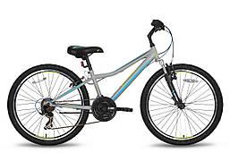 """Детский велосипед PRIDE BRAVE 21 серо-синий матовый, 24"""" (BB)"""