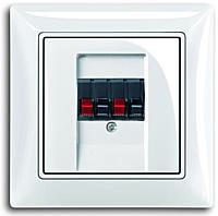 Аудіо розетка стерео, білий колір, Basic55