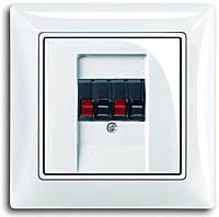Аудио розетка стерео, белый цвет, Basic55