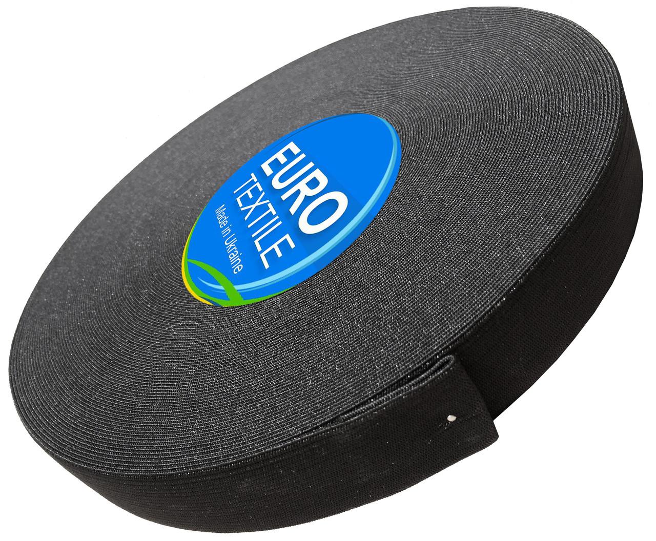 Резинки для одежды (30mm/40m) черный, тесьма эластичная полиэстер