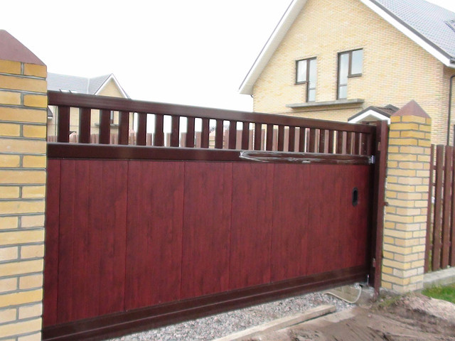 Откатные ворота Doorhan, комбинированные