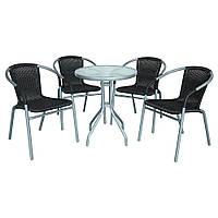 Садовая мебель Summer Silver /Black 4+1