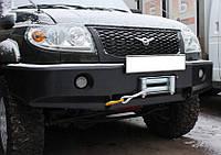 Бампер передній на УАЗ Patriot без кенгурина з вікнами під ВТФ Всюдихід 73