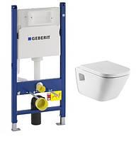 Комплект: унітаз Roca GAP з сидінням, інсталяція Geberit 3в1  A34H478000+458.126.00.1