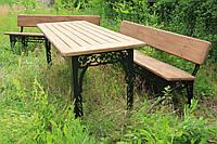 Набор садовой мебели (Стол и две скамейки 200 см) собственное производство