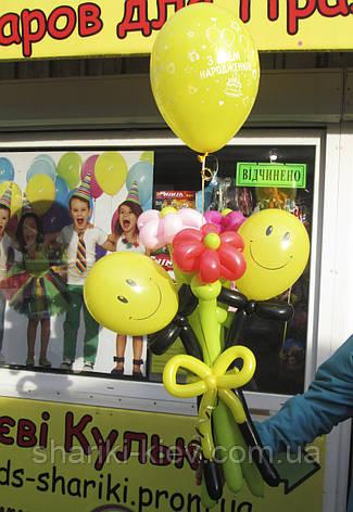 Букет из шариков Человечки с Ромашками на День рождения, фото 2
