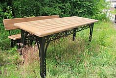 Набор садовой мебели, материал основы - дуб, 200 см, цвет черный/коричневый, фото 2