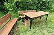 Набор садовой мебели, материал основы - дуб, 200 см, цвет черный/коричневый, фото 3