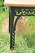 Набор садовой мебели, материал основы - дуб, 200 см, цвет черный/коричневый, фото 4