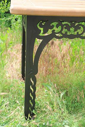 Лавочка садовая 200 см длина, фото 2