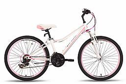 """Детский велосипед PRIDE LANNY 21 бело-розовый матовый, 24"""" (BB)"""