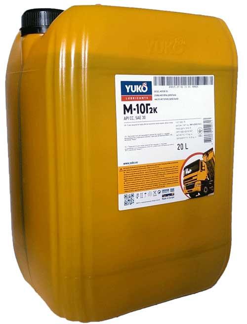 Моторное масло Yuko М10-Г2К 20л.