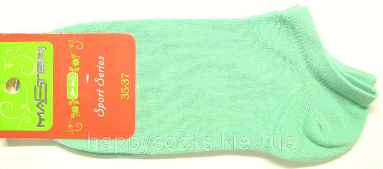 Короткие женские носки мятного цвета