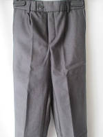 Серые брюки из гладкой костюмной ткани на ребенка