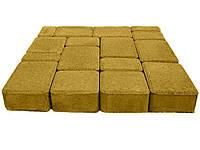 Плитка тротуарная, сухопрессованная, старый город (h 4см) (желтая)